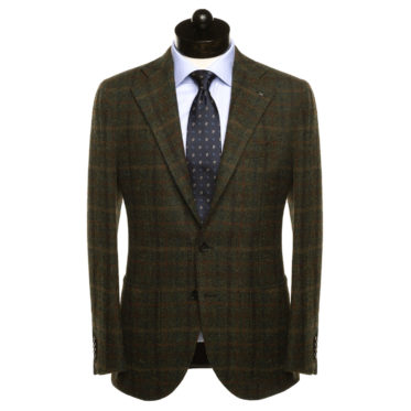 HARRIS TWEED - GREEN CHECK - NEAPOLITAN CUT