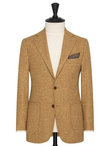 Mustard Wool/Silk Twill by Solbiati