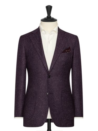 Aubergine Wool/Silk blend by VBC